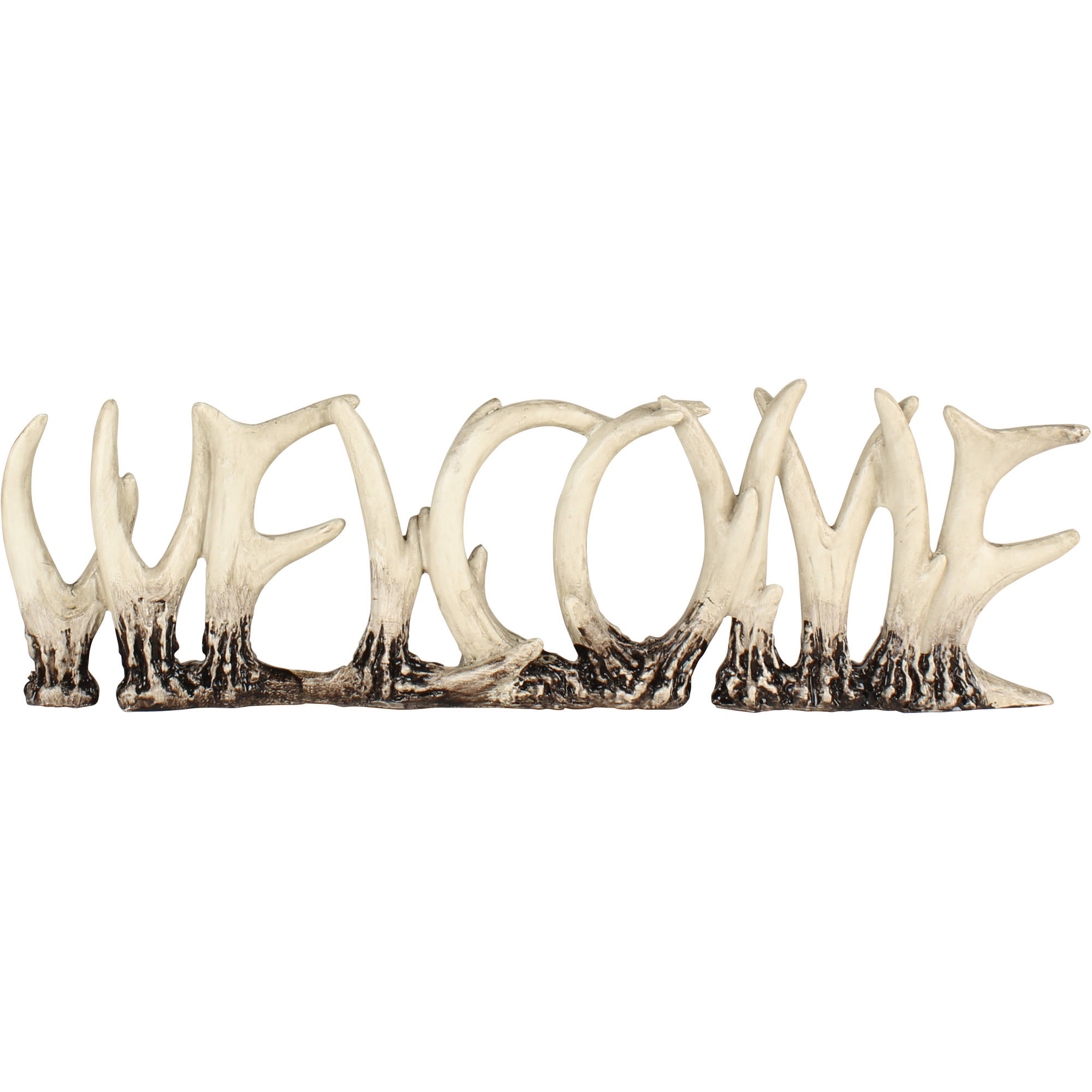Tabletop Antlers Welcome Decor, Multicolored