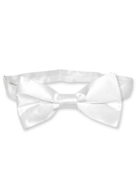 7771ef3337e0 Product Image BIAGIO 100% SILK BOWTIE Solid WHITE Color Men's Bow Tie for  Tuxedo or Suit