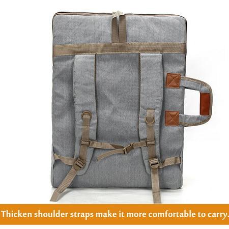 Art Portfolio Bag Case Backpack Drawing Board Shoulder Bag with Zipper Shoulder Straps for Artist Painter Students Artwork - image 5 de 8