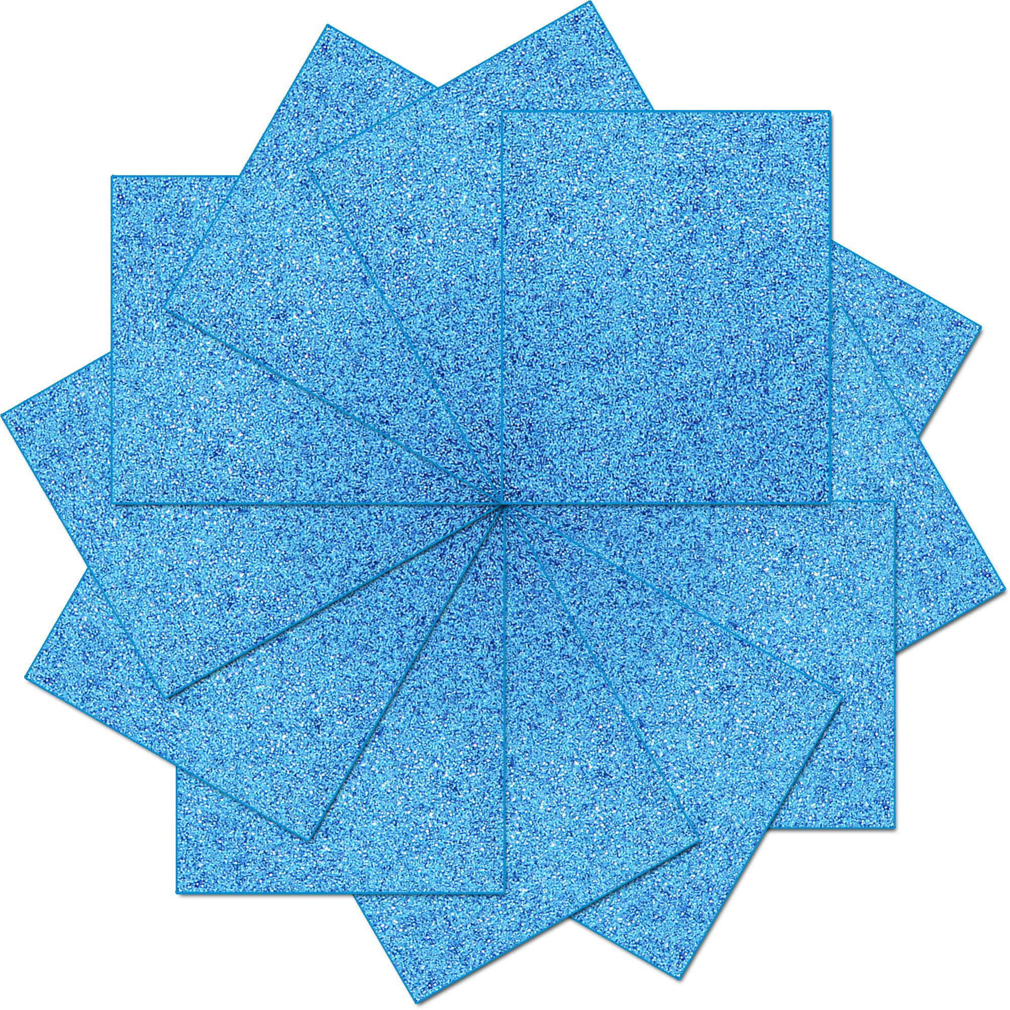 "Threadart Variety Pack 10"" x 12"" Heat Transfer Glitter Color Vinyl Precut Sheets - 12 Sheets"