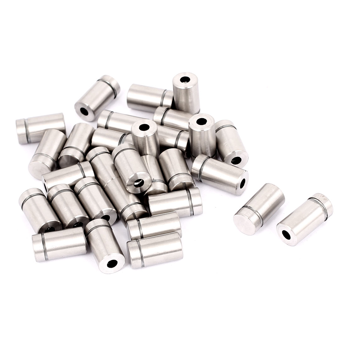 Unique Bargains 12mmx22mm Stainless Steel Decorative Advertising Screw Nails Silver Tone 30Pcs
