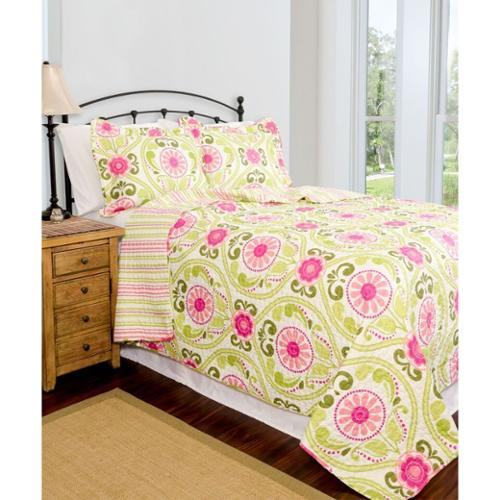 PEGASUS HOME FASHIONS Slumber Shop Serenade Reversible 3-piece Quilt Set