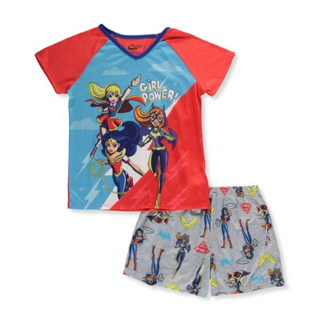 Girls Pajamas Size 7 (DC Superhero Girls' 2pc Pajama Short)