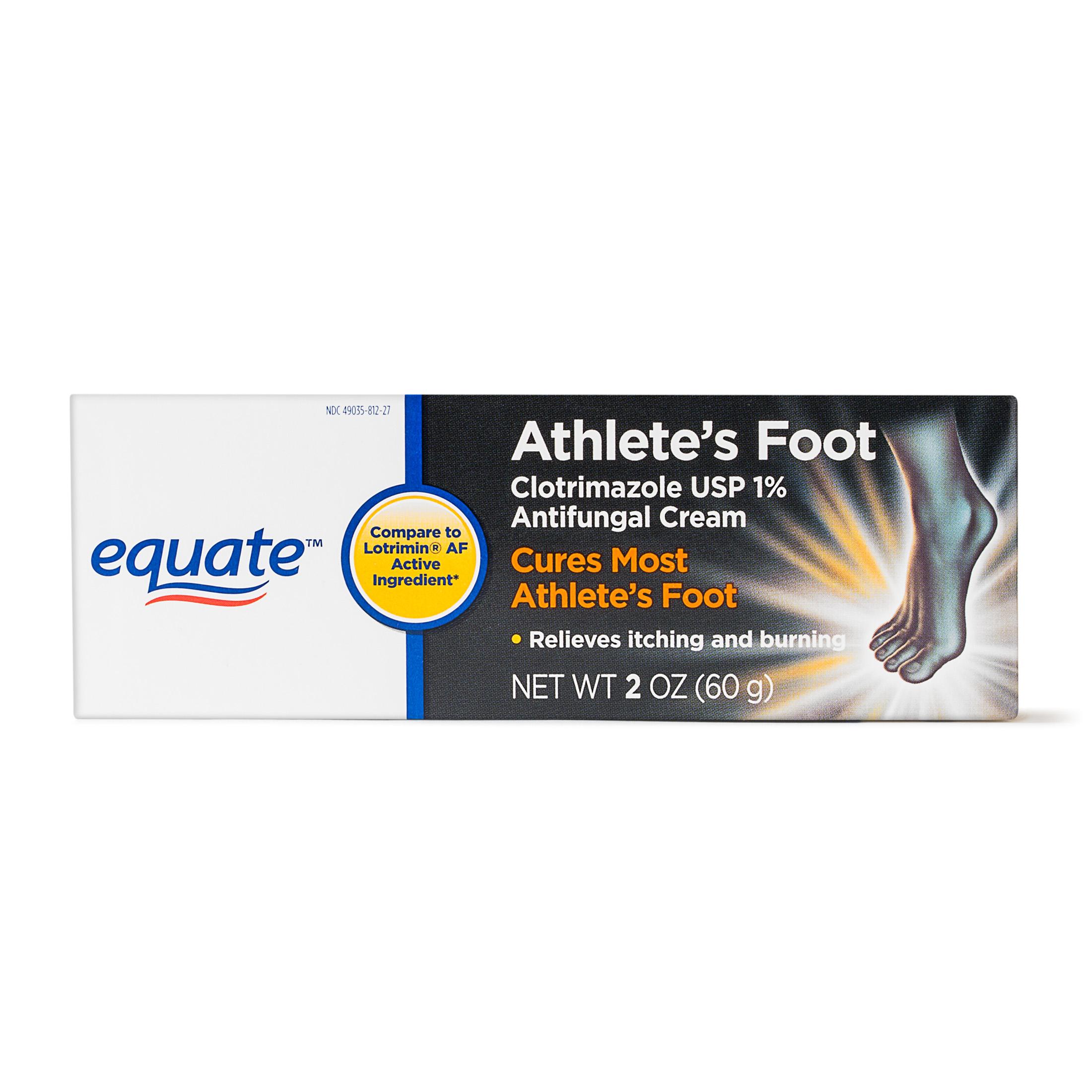 Equate Athletes Foot Antifungal Cream, 2 Oz