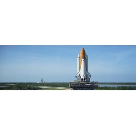 Rollout of Space Shuttle Discovery NASA Kennedy Space Center Cape Canaveral Brevard County Florida USA Stretched Canvas - Panoramic Images (36 x - Halloween Brevard County