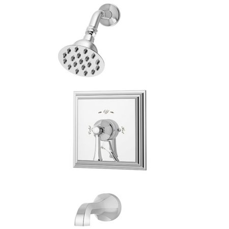 Faucet Single Handle Diverter - Canterbury Single Handle Tub and Shower Faucet Trim with Lever Diverter in Chrome, 1.5 gpm (Valve Not Included)