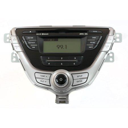 11-13 Hyundai Elantra AM FM Radio CD Player Sat Ready w Bluetooth 96170-3X161RA5 - Refurbished