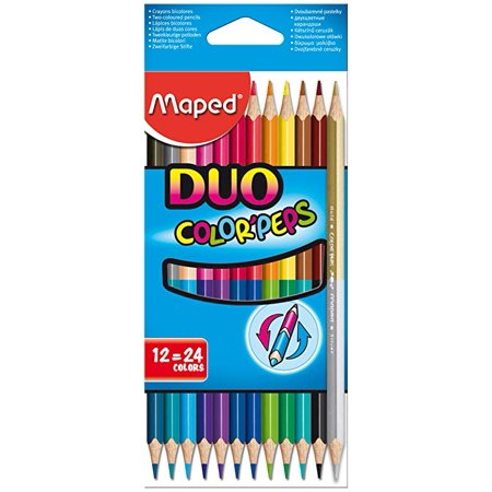 Maped Color'Peps Colored Pencil Set, 12-Pencils, Duo-Tip (Maped Color Peps)