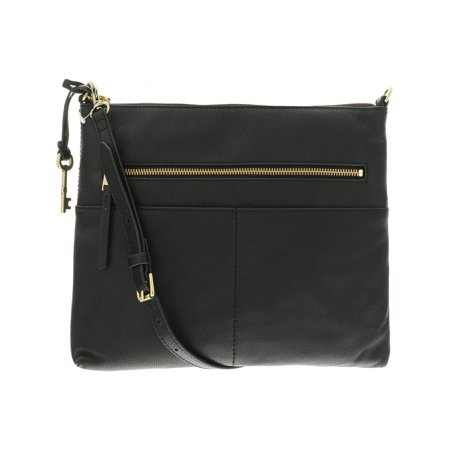 - Fossil Large Fiona Leather Cross Body - Black