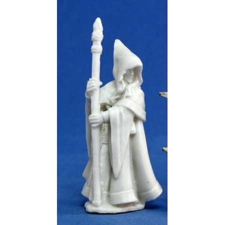 Reaper Miniatures Anirion, Wood Elf Wizard #77068 Bones Unpainted Plastic Figure (Wood Elf)