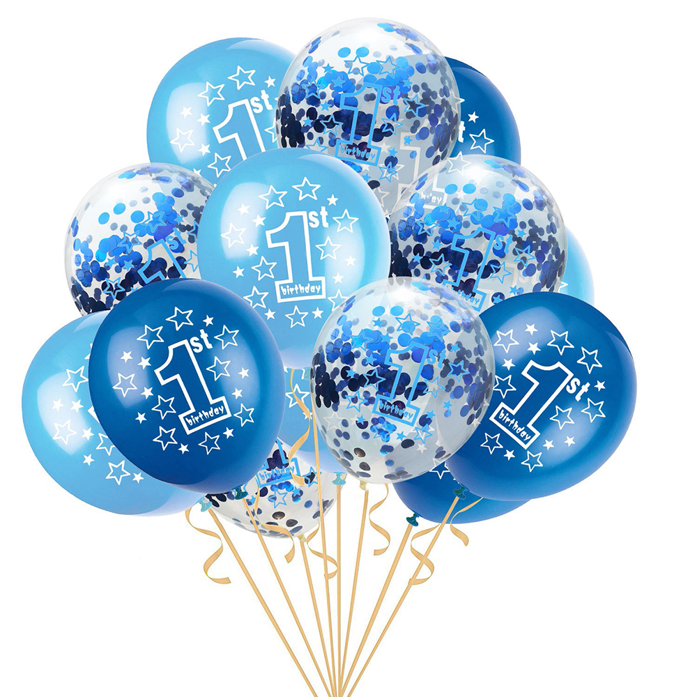 15PCS It/'s a Boy and It/'s a Girl Latex Balloons for Baby Shower Party Decor Fun