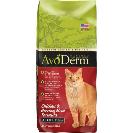 AvoDerm Natural Chicken & Herring Corn-Free Dry Cat Food, 6 lb