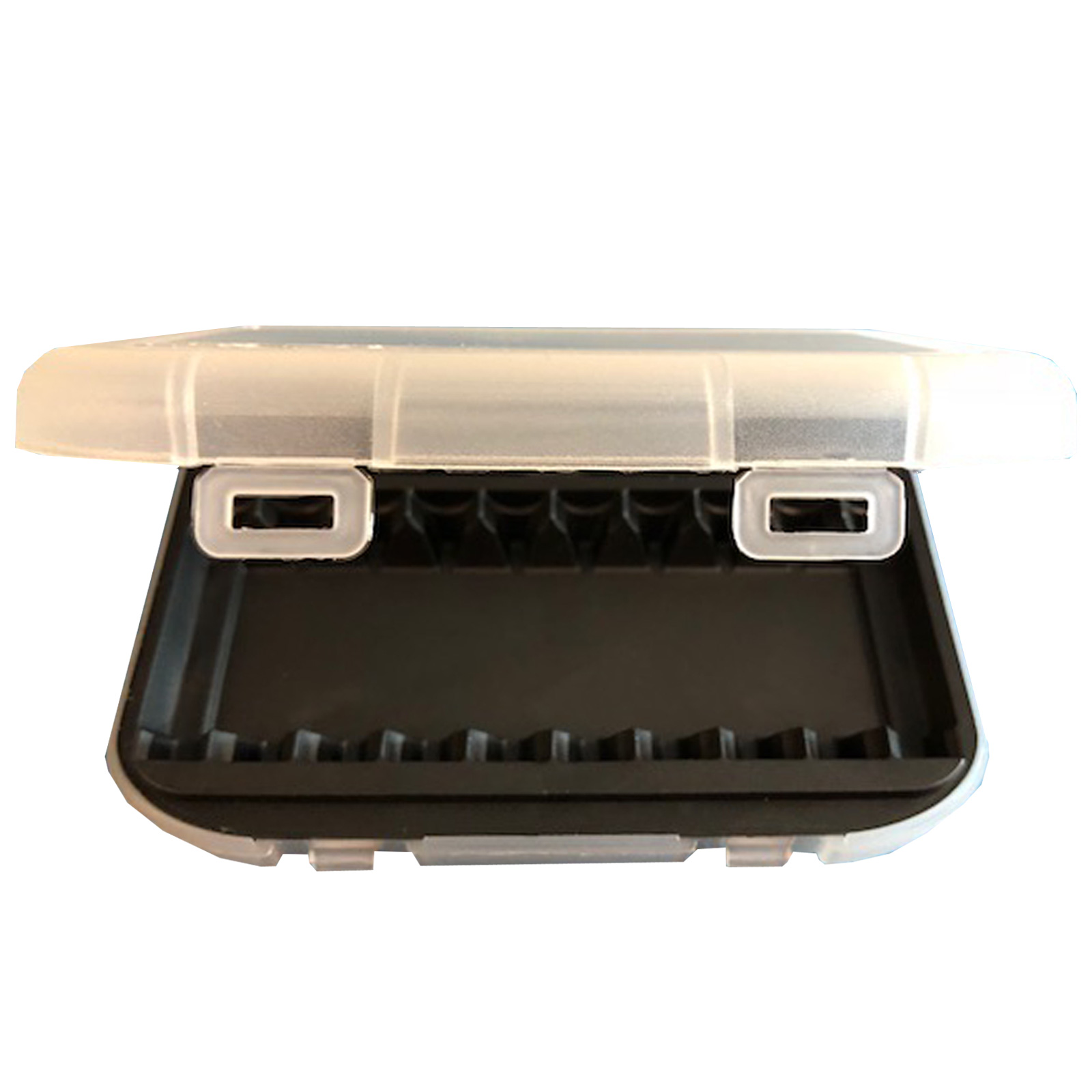 AAA Battery Case Holder Fits Any 12x AAA Batteries For Travel Safety TSA Carryon Non Skid Feet Molded Liner Made In USA