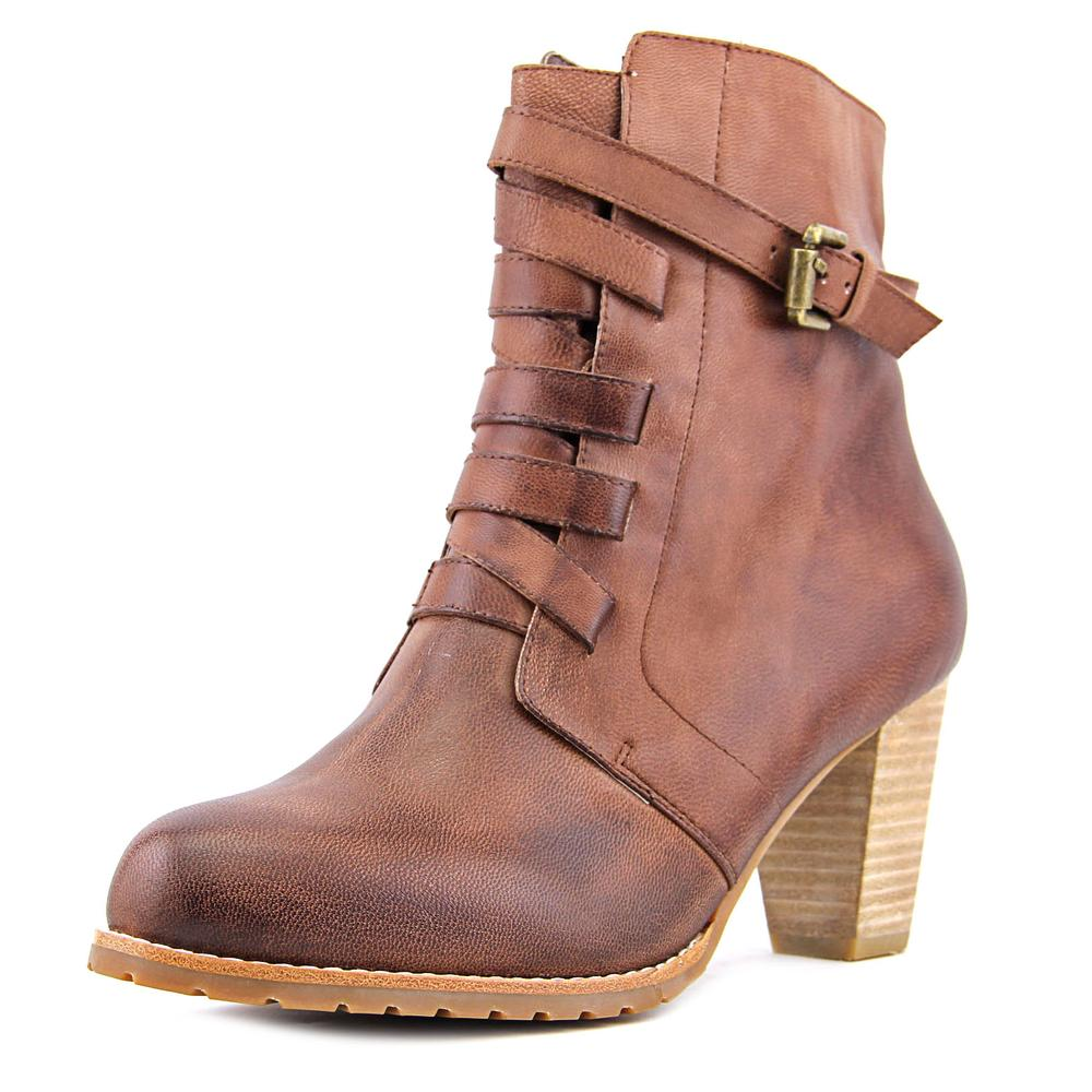 Antelope 706 Women  Round Toe Leather Brown Boot