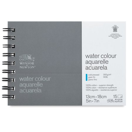 "Winsor & Newton Professional Watercolor Journal - 5"" x 7"", Cold Press, 15 sheets, 140 lb"