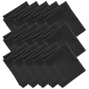 Fosmon Microfiber Cleaning Cloths (15 pack), 6 x 7 inch Dust Rag Towels for Eyeglasses, LCD Screen, Smartphones and more