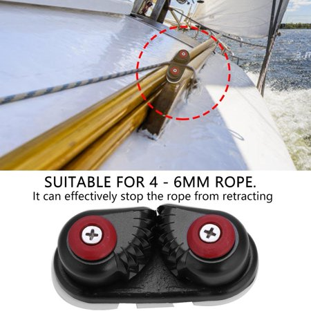 YLSHRF Aluminum Cam Cleat, Quick Entry Cam Cleat,Durable Fast Entry Boat Sailing Sailboat Ball Bearing Rope Cam Cleat Black Accessory Matic Cam Cleat