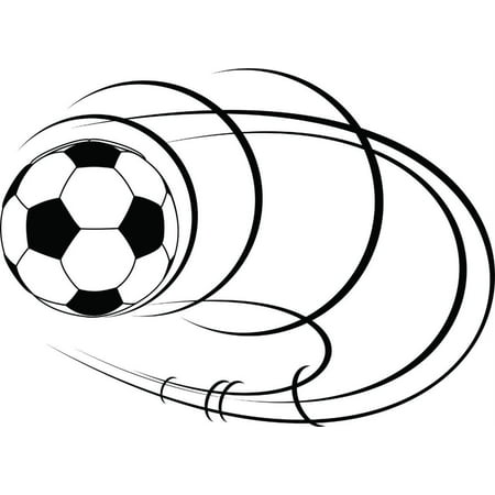 Custom Wall Decal Soccer Ball Picture Art - Kids Boys Bed Room - Peel & Stick Sticker - Vinyl Wall Decal - 20x20 Inches