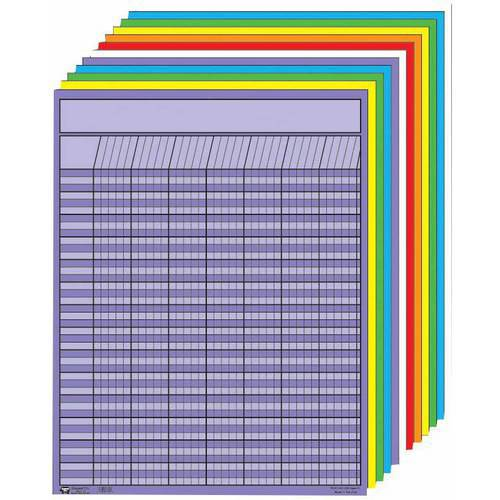 """Creative Shapes Etc. Large Vertical Incentive Charts, 22"""" x 28"""", Set of 12"""