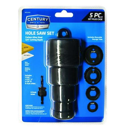 Century Drill & Tool 178349536 05495 Carbon Hole Saw Set - 5 Piece - image 1 de 1