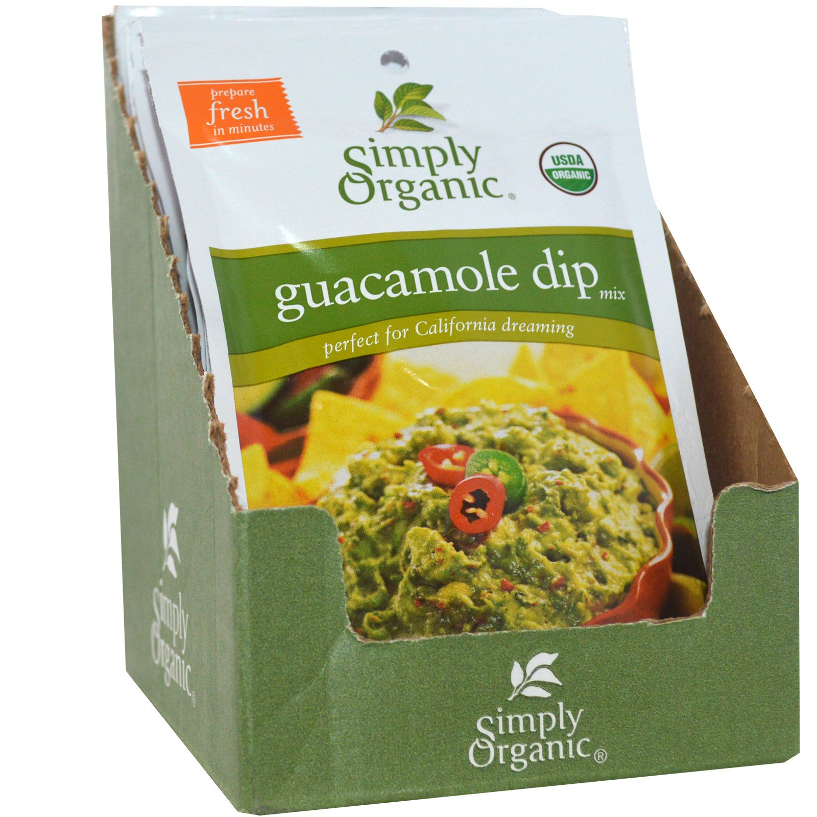 Simply Organic, Guacamole Dip Mix, 12 Packets, 0.8 oz (22.7 g) Each(pack of 1) by