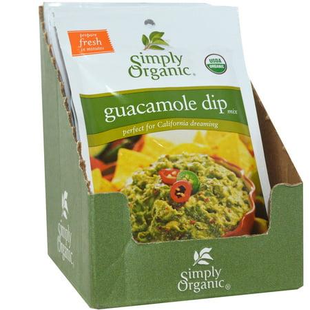 Guacamole Dip Mix (Simply Organic, Guacamole Dip Mix, 12 Packets, 0.8 oz (22.7 g) Each(pack of)