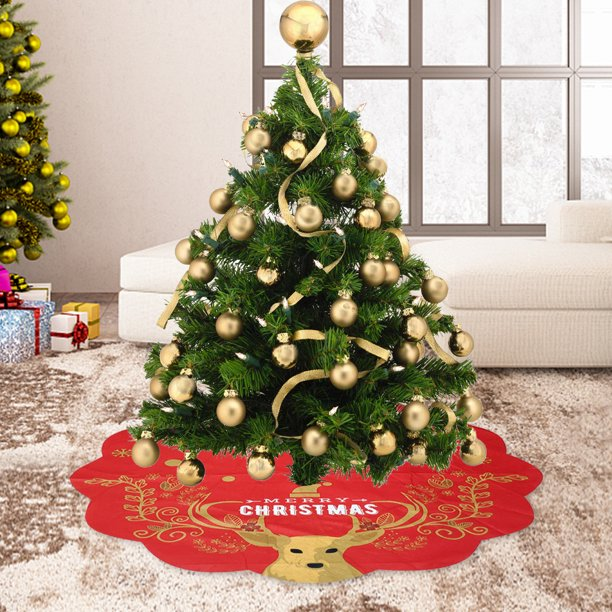 Get A Magical Christmas Tree Supercity 2020 Akoyovwerve 33 Inch Christmas Tree Skirt With Snowman Elk Pattern