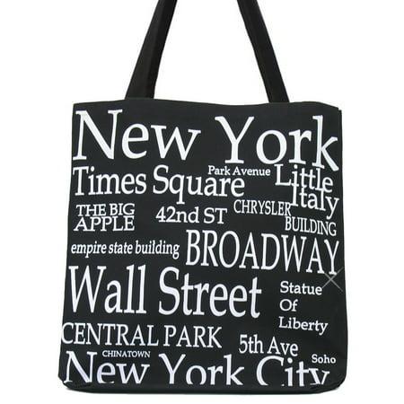 New York Bass - New York City Black Tote Bag