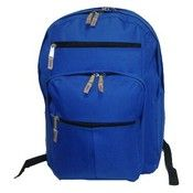 "600D Polyester Multi pockets Backpack, 18x13x8.5"", Royal. (24 Units Included)"