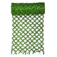 """Vickerman 30' x 12"""" Commercial Length Extra Wide Wired Mesh Green Tinsel Garland Ribbon"""