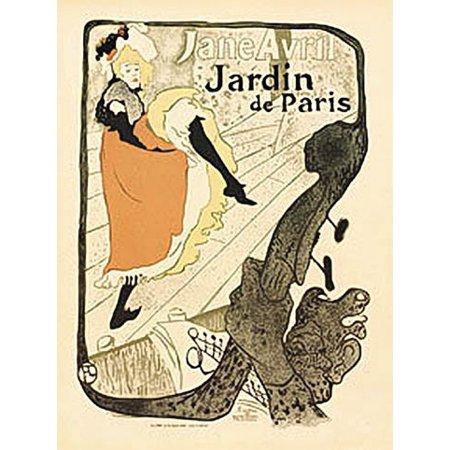 Jardin De Paris Art Deco Poster by Toulouse Lautrec, 22