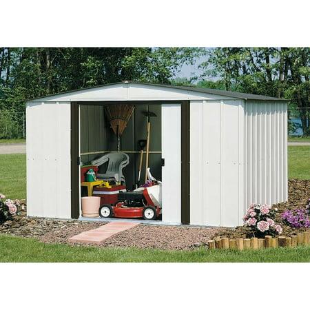 Newburgh 10 x 14 ft. Steel Storage Shed Coffee/Eggshell