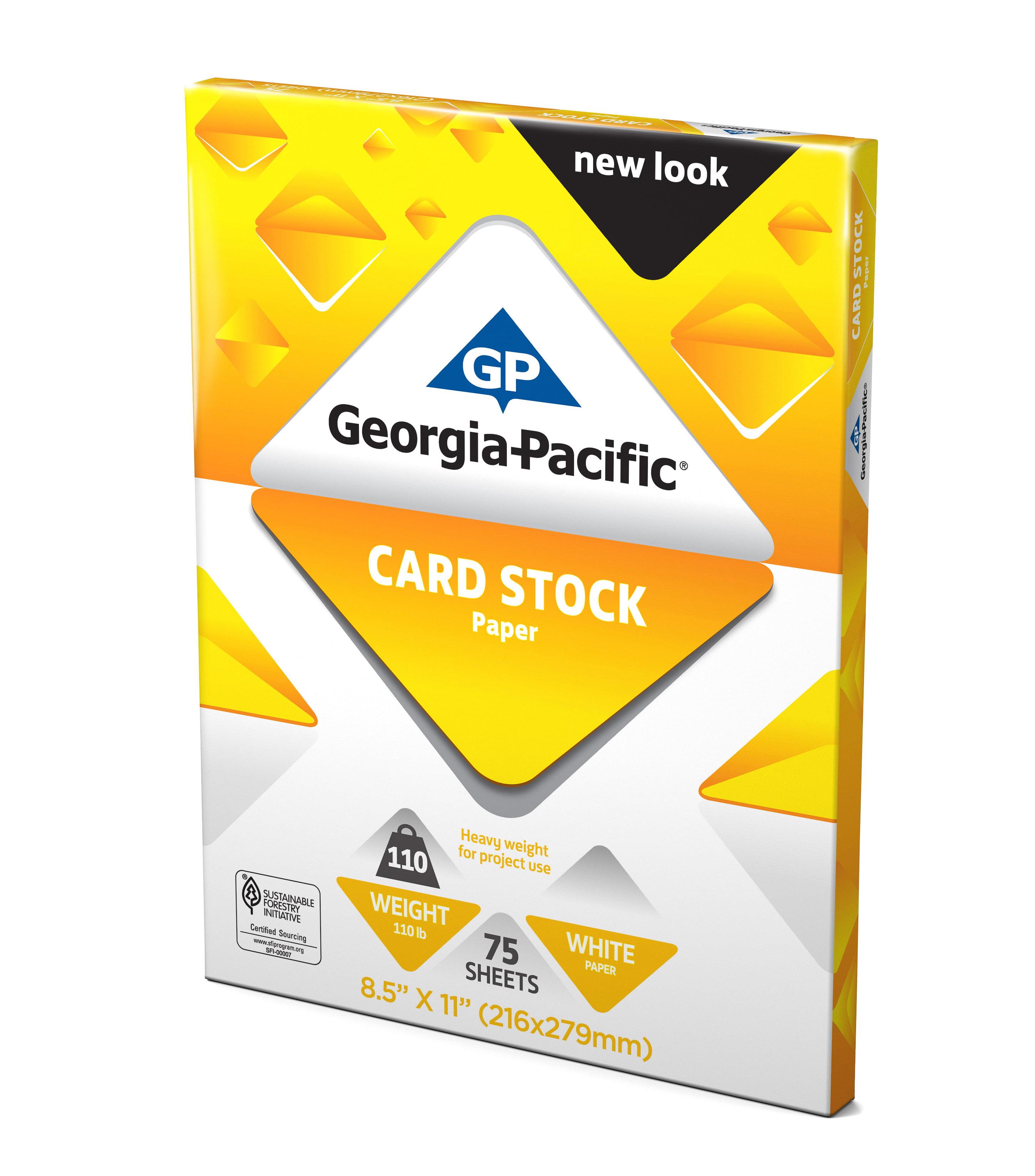 Georgia Pacific White Cardstock Paper 85 X 11 110 Lb 150