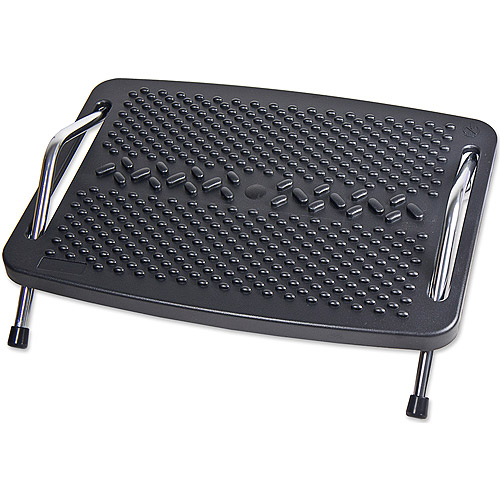 SYBA Ergonomic Design Foot Rest with Metal Support and Push-to-Tilt Sides, Black