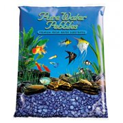 Pure Water Pebbles Aquarium Gravel Deep Blue Frost Premium Water Substrate 5 lbs