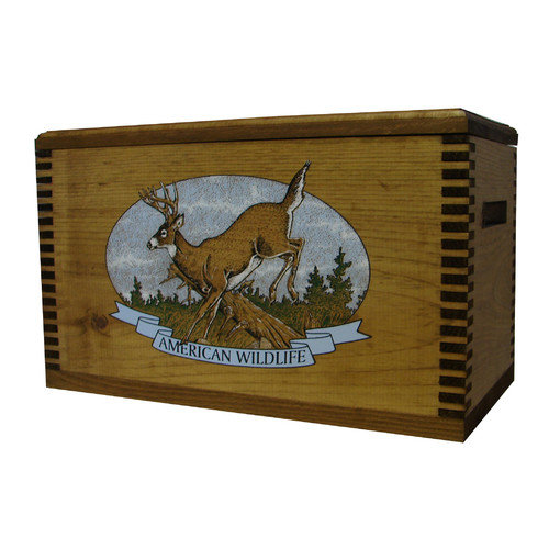 Evans Sports Wooden Accessory Box With ''Wildlife Series'' Whitetail Deer Print