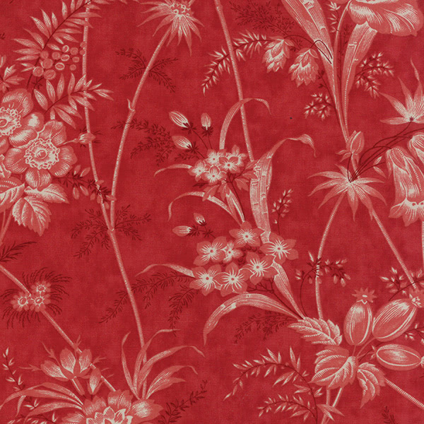 Moda 3 Sisters Holly Woods Christmas Floral Toile Red