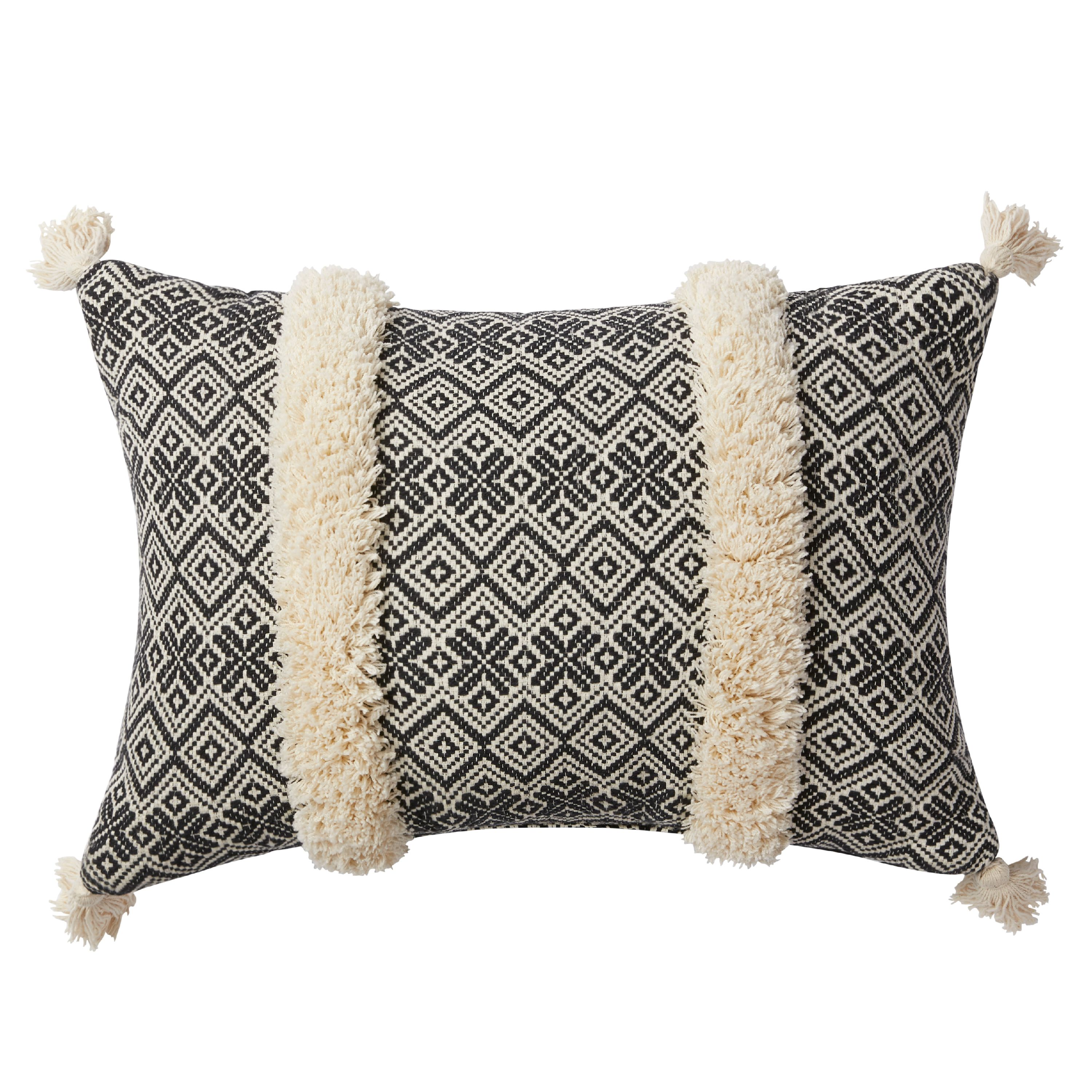 Better Homes and Gardens Handcrafted Jacquard Tufted Decorative Pillow