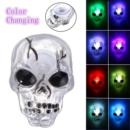 LED color changing Skull Night Light,Flash Color Changing Skeleton Light for Halloween Party Light Lamp Home Decor