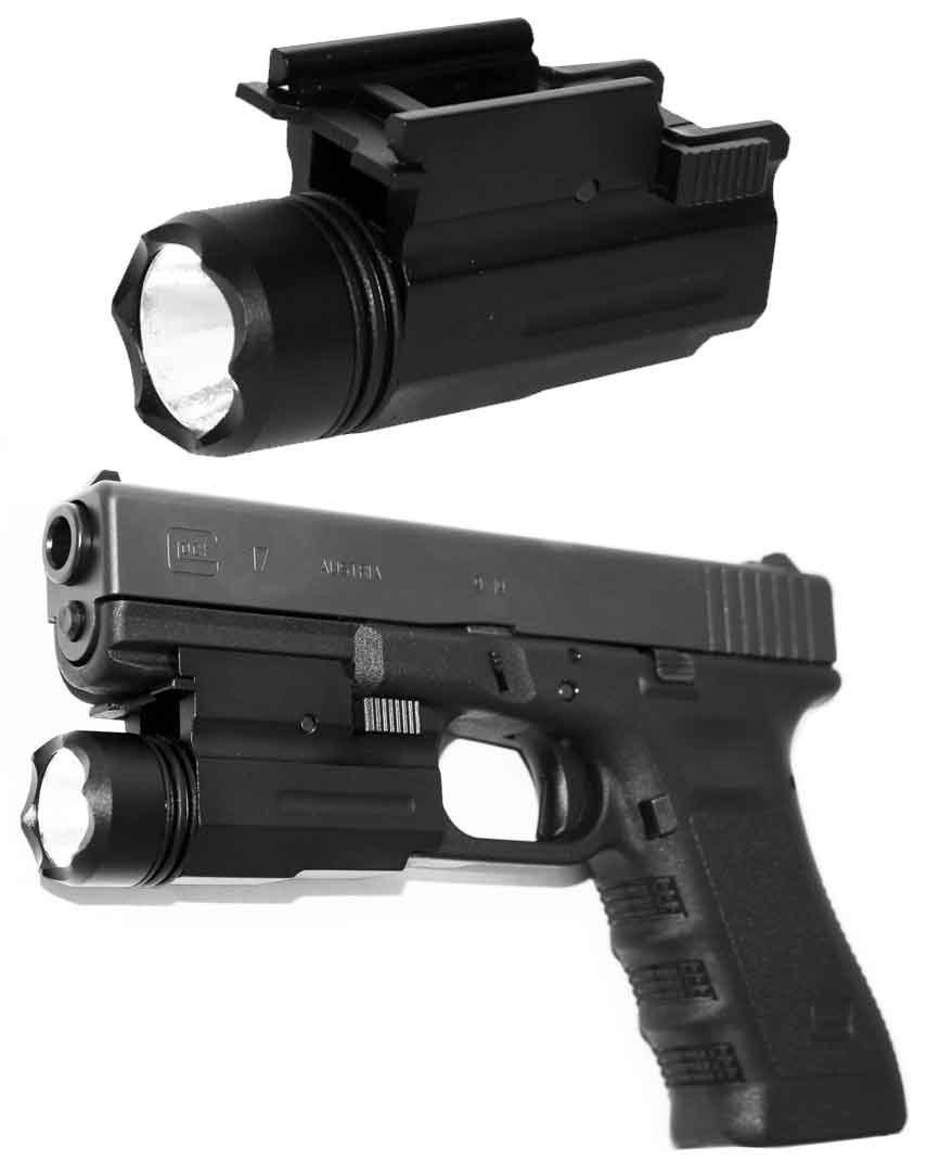 Tactical CREE Led Flashlight Fit for Pistol Gun Glock by