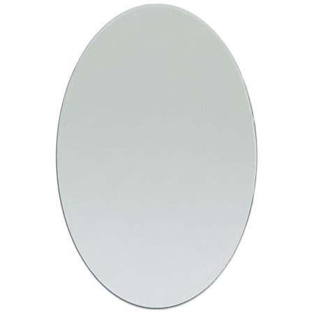 8 x 6 inch Glass Craft Oval Mirror 1 Piece Oval Mosaic Mirror - Craft Mirror Tiles