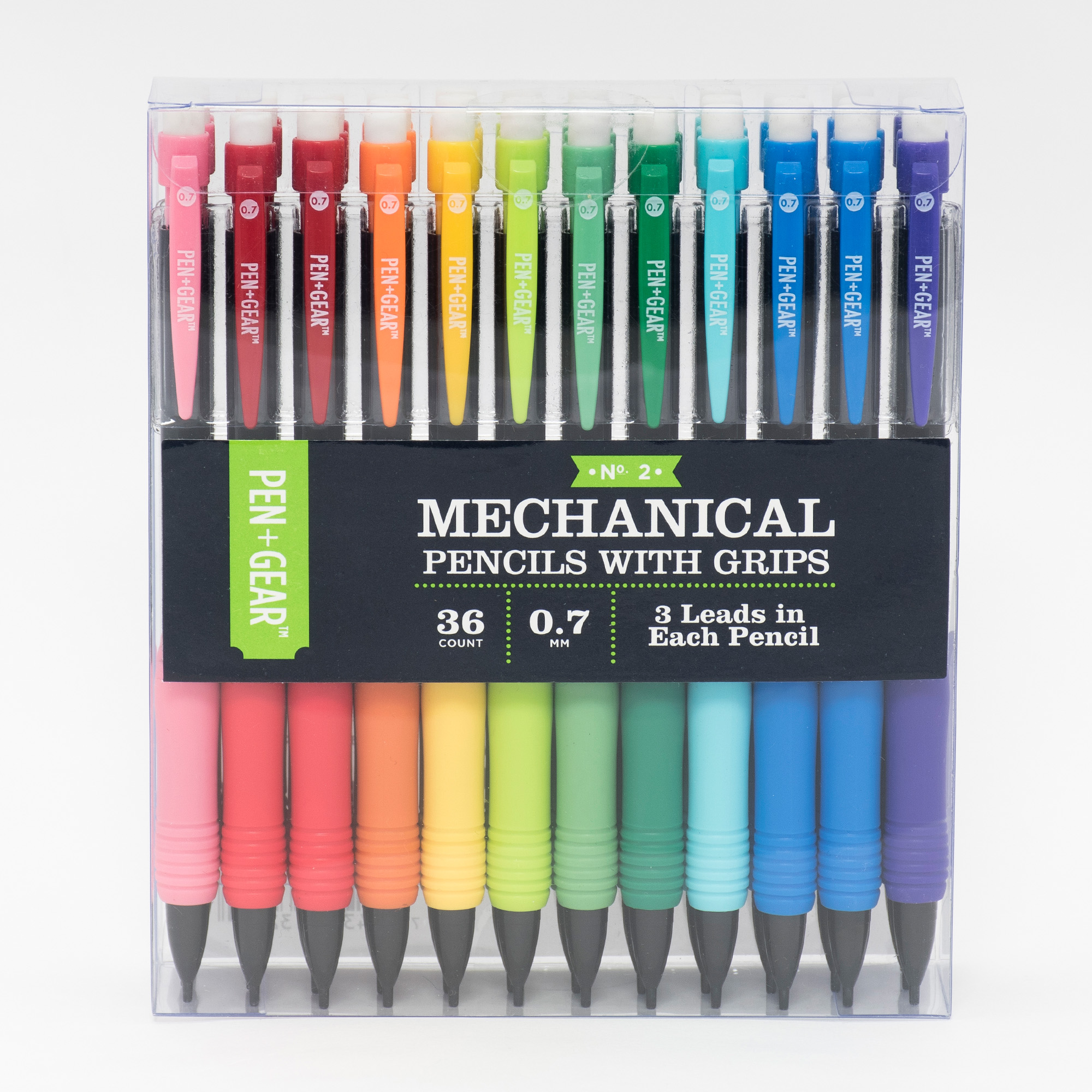 Pen + Gear 36pk Mechanical Pencils with Grips, 0.7mm