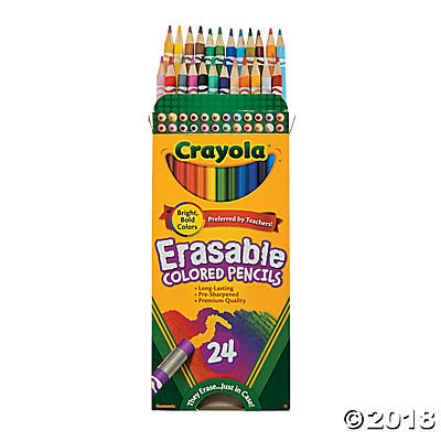 Crayola® Erasable Colored Pencils - 24(pack of 4)