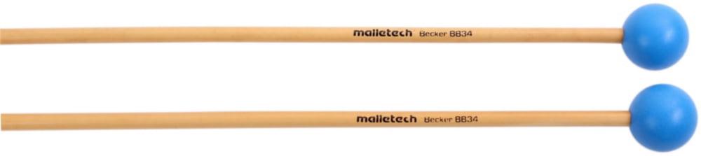 Malletech Bob Becker Xylophone Mallet Medium Bright Blue Medium Hard by Malletech