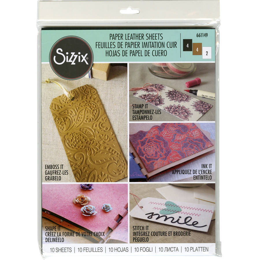 """Sizzix Paper Leather 8.5"""" x 11"""" Sheets, 10pk"""