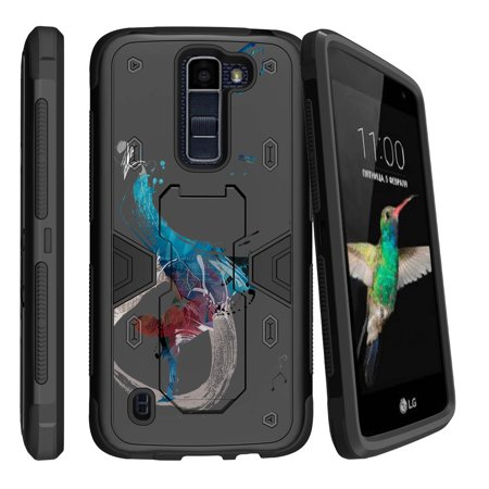 Lg K7   Lg Tribute 5 Dual Layer Shock Resistant Max Defense Heavy Duty Case With Built In Kickstand   Break The Rhythm