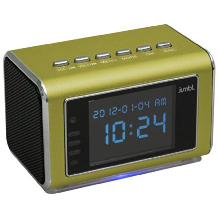 Jumbl Mini Hidden Spy Camera Radio Clock w/Motion Detection - Green