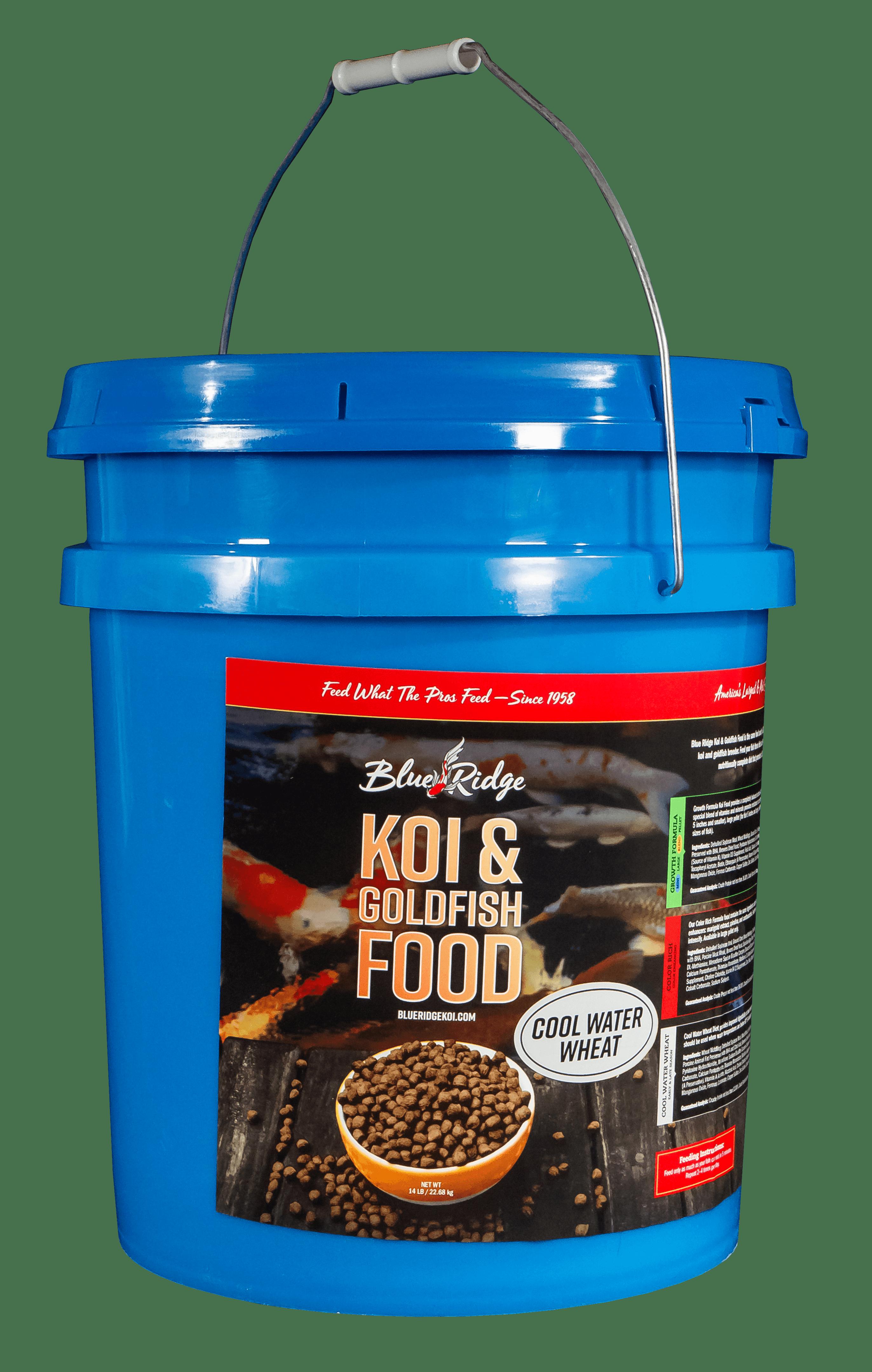 Blue Ridge Cool Water Wheat Formula Koi & Goldfish Fish Food Pellets, 14 lb by Blue Ridge Koi & Goldfish