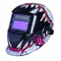 Solar Powered Welding Helmet Auto Darkening Hood for Welder Mask White & Tusk Pattern