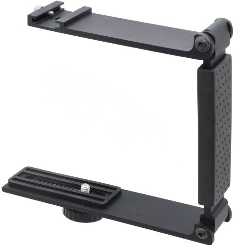Digital Nc Aluminum Mini Folding Bracket for Panasonic Lumix DC-LX100 II Accommodates Flashes, Lights Or Microphones